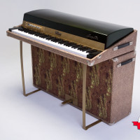 Fender Rhodes 1974 Solid Gold Suitcase 73 5