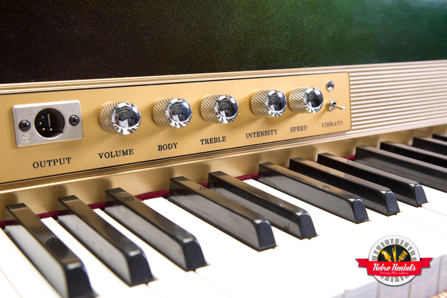 signature series 1974 fender rhodes solid gold retro rentals. Black Bedroom Furniture Sets. Home Design Ideas